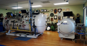 Multi and mono-place hyperbaric chambers.